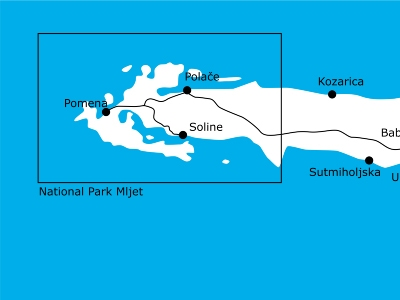 map of Mljet
